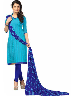 Khushali Fashion Chanderi Embroidered Unstitched Dress Material -BRCRN1012