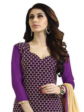 Khushali Fashion Velvet Embroidered Unstitched Dress Material -BRCVLT1002