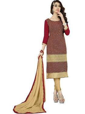 Khushali Fashion Velvet Embroidered Unstitched Dress Material -BRCVLT1008