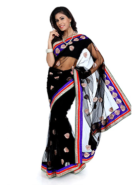 Designer Net Saree - Black-1340