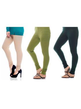 Combo of 3 Arisha Woolen Solid Legging -CMBB11