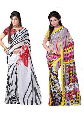 Combo of 2 Arisha Georgette Printed Saree -CMBS10