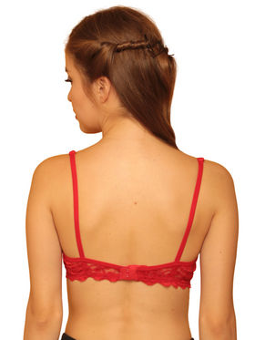 Clovia Blended Printed Bra - Red