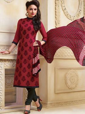 Viva N Diva Banarasi Linen Embroidered Unstitched Suit Color-Blossom-03-1053