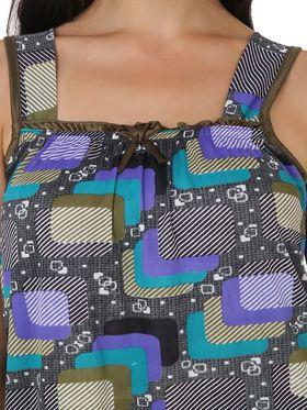 Fasense Shinker Cotton Printed Nightwear Short Nighty -DP149C1