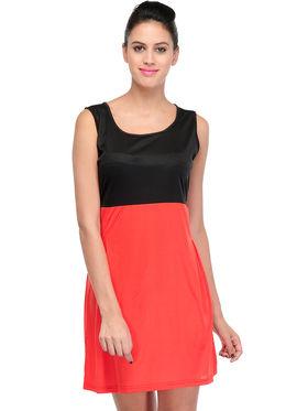 Arisha Viscose Solid Dress DRS1024_Rd