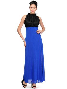 Arisha Viscose Solid Dress DRS1026_Blu