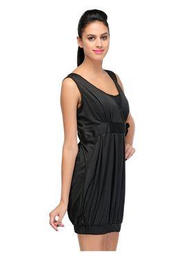 Arisha Viscose Solid Dress DRS1028_Blk