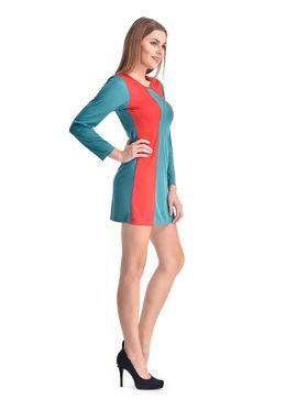 Arisha Viscose Solid Dress DRS1067_Trq-Rd