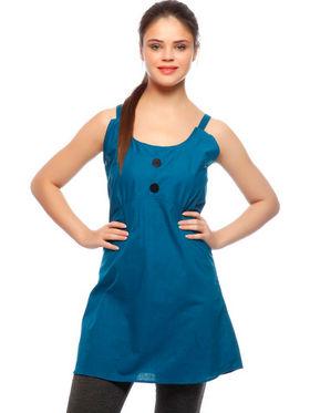 Set Of 3 Delhi Seven Cotton Solid Jumpsuit & Dress
