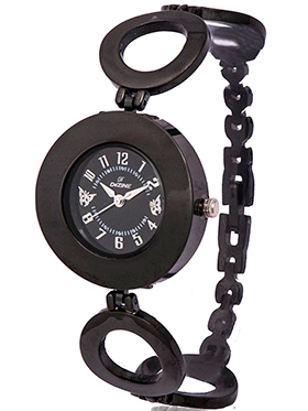 Dezine Wrist Watch for Women - Black_DZ-LR016-BLK-BLK