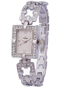 Dezine Wrist Watch for Women - Silver_DZ-LRD014-SLV-CH