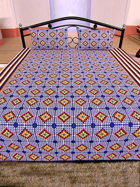 Divine 100% Cotton 4 Double & 4 Single Bedsheets Combo (4DSBS6)