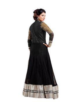 Fabfiza Embroidered Net Semi Stitched Salwar Suit_FB-6337