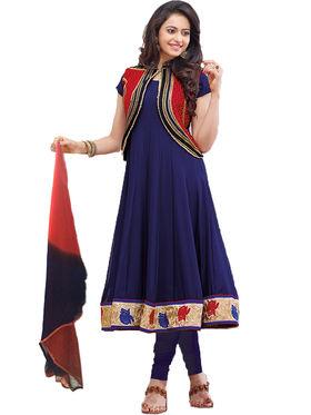 Fabfiza Printed Georgette Semi Stitched Anarkali Suit _FBPH7-1094