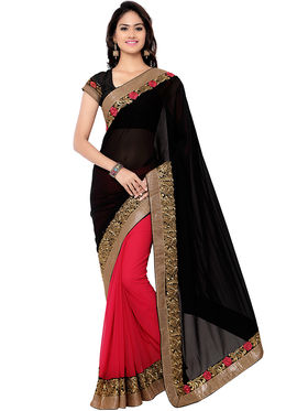 Florence Embroidered  Chiffon Sarees -FL-11191