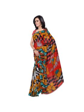 Florence Printed Faux Georgette Sarees -FL-11235