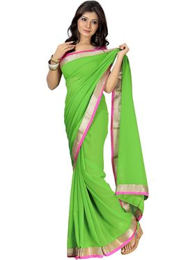 Combo of 5 Florence Chiffon Plain Saree FL-1450-A