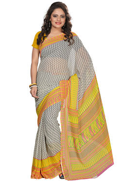 Florence Faux Georgette  Printed  Sarees FL-3156