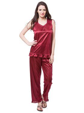 Pack of 6 Fasense Satin Plain Nightwear - DP114 A