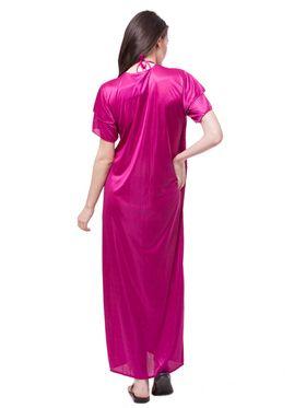Pack of 6 Fasense Satin Plain Nightwear - DP114 D