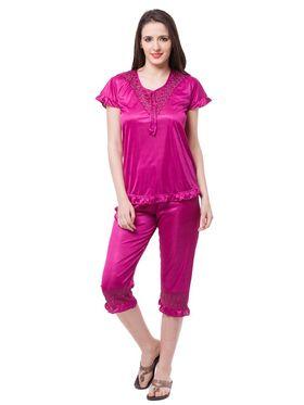 Pack of 6 Fasense Satin Plain Nightwear - DP116 D