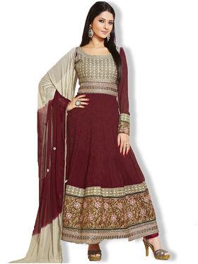 Fabfiza Embroidered Georgette Semi Stitched Anarkali Suit _Fbph5-1073