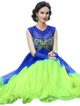 Florence Net & Shantoon Embroidered Gown - Green