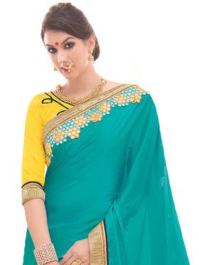 Indian Women Embroidered Satin Chiffon & Georgette Saree -Ga20233