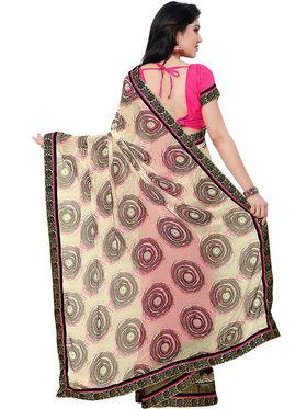 Indian Women Satin Chiffon Saree -IC40428