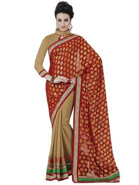 Pack of 3 Bahubali Embroidered Sarees - GAL897