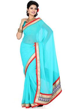 Ishin Chiffon Embroidered Saree - Multicolour_ISHIN-1727