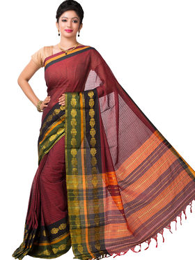 Ishin Cotton Printed Saree - Multicolor - SNGM-2446
