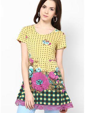 Kaxiaa Cotton Jersey Printed Tunic -K-957C