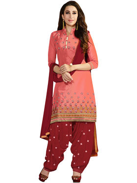 Khushali Fashion Cotton Embroidered Unstitched Dress Material -KRSH4359