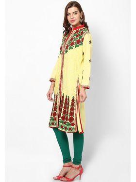 Arisha Cotton Printed Kurti KRT6018-Ylw