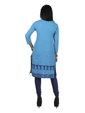 Arisha Cotton Printed Kurti KRT6084-Trq