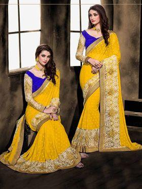 Viva N Diva Georgette Floral Embroidery Saree -Kalki-03-3004