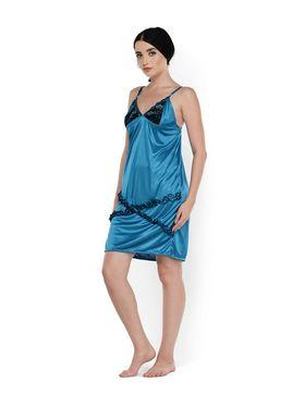 Set of 2 Klamotten Satin Solid Nightwear - X03-101