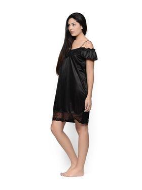 Set of 2 Klamotten Satin Solid Nightwear - X100-101