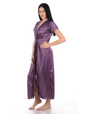 Klamotten Satin Solid Nightwear - Purple - YY128