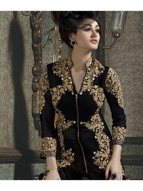 Viva N Diva Semi Stitched Pure Georgette Floral Embroidered Suit Kyraa-9005