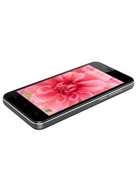 Lava Iris Atom2 Quad Core Processor, 5 MP Camera with Largan lens , Android KitKat (Upgradable to Lollipop) - Black