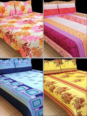 Luxury Queen Fab 4 Double Bedsheets (4BS1)