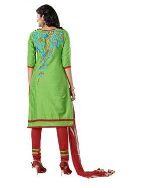 Khushali Fashion Glaze Cotton Embroidered Dress Material -Mcrdmhk805