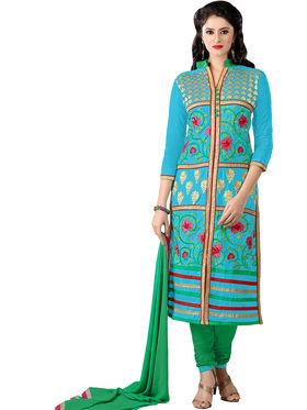 Khushali Fashion Glaze Cotton Embroidered Dress Material -Mcrdmhk813