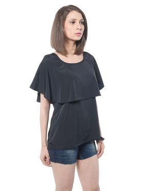 Meira Poly Crepe Solid-Top - Black - MEWT-1050-F