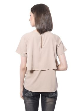 Meira Poly Crepe Solid-Top - Beige - MEWT-1050-G