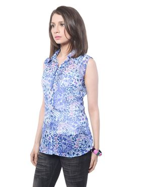 Meira Poly Chiffon Printed Top - Multicolor - MEWT-1167