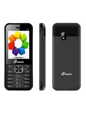 MTECH L2 16 GB MOBILE WITH INBUILT WHATS APP AND WIRELESS FM - BLACK GREY